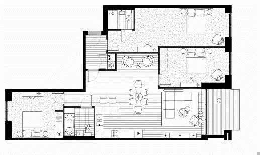 Royal Wharf Phase 2 3 Bedroom Floor Plan