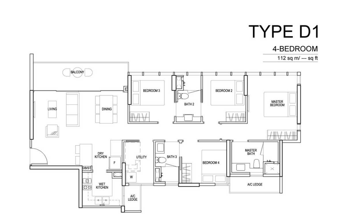 Sims Urban Oasis 4 Bedroom Floor Plan